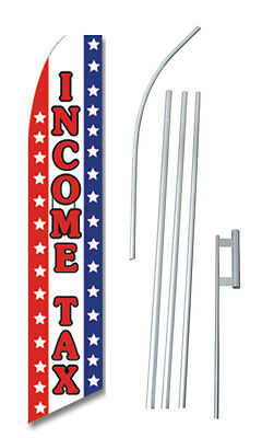 Income Tax Advertising Complete Swooper Bow Feather Flag Starter Kit