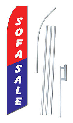 Sofa Sale Tall Advertising Banner Flag Complete Sign Kit 2.5 Feet Wide