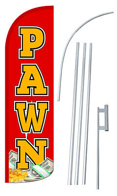 Pawn Flutter Feather Flag Sign Blade Banner 30 Wider Super Swooper