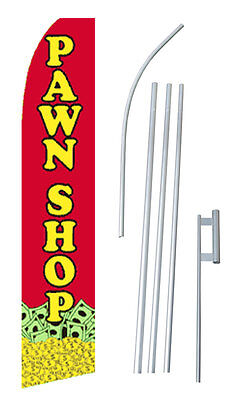 Pawn Shop Banner Flag Sign Swooper Flutter Blade Half Sleeve Kit