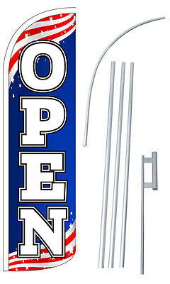 Open Flutter Feather Flag Sign Blade Banner 30 Wider Super Swooper