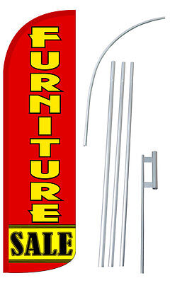 Furniture Sale Flag Kit 3 Wide Windless Swooper Feather Advertising Sign