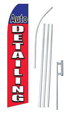 Complete 15 Auto Detailing Kit Swooper Feather Flutter Banner Sign Flag