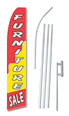 Furniture Sale  Tall Advertising Banner Flag Complete Sign Kit 2.5 Feet Wide