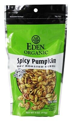 Eden Foods - Organic Spicy Pumpkin Dry Roasted Seeds - 4 oz. Dry Roasted Pumpkin Seeds