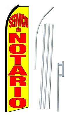 Complete 15 Servico De Notario Notary Service Kit Swooper Banner Sign Flag