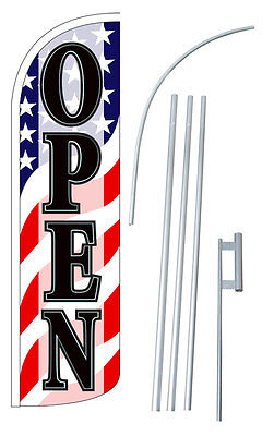 Open Flag Kit 3 Wide Windless Swooper Feather Advertising Sign Sw10884