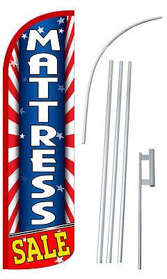 Mattress Sale Feather Flag Sign Blade Banner 30 Wider Super Swooper