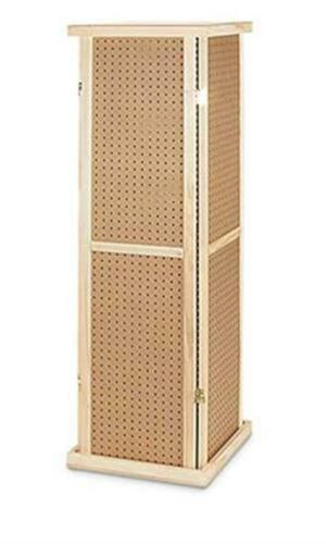 For Sale Pegboard Tower Rotating Display Rack - 4 Sided 5