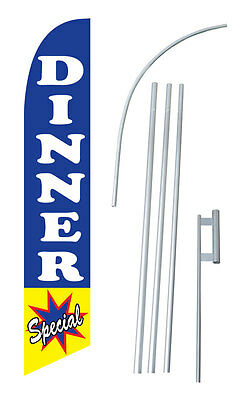 Dinner Special Windless Feather Advertising Swooper Flag Kit