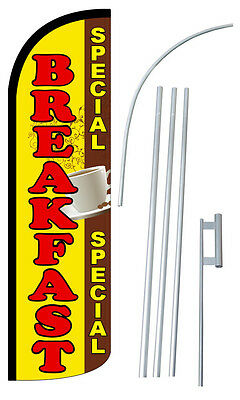 Breakfast Special Feather Flag Sign Banner 30 Wider Super Swooper