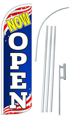 Now Open Flutter Feather Flag Blade Banner 30 Wider Super Swooper