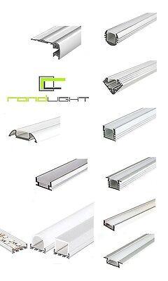 LED aluminium Profile 1 - 2 Meter und Zubehör