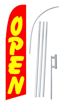 Open Red Windless Swooper Flag Kit