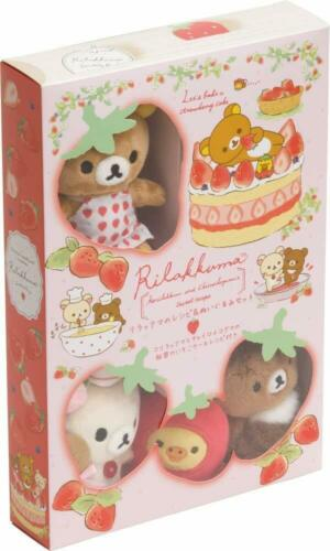 Rilakkuma Strawberry Cake Recipe & Plush Toy Set by San-x - Japanese Import