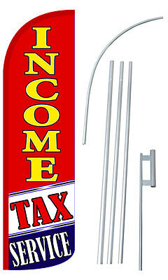Income Tax Service Ry Extra Wide Windless Swooper Flag Bundle