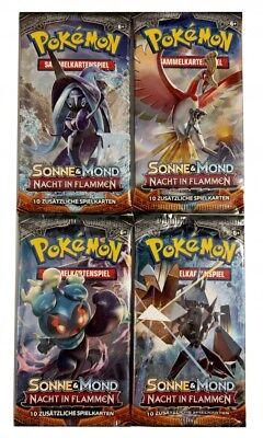50x Pokemon Sonne & Mond Nacht in Flammen ( 500 Karten )