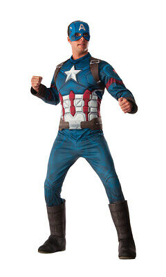 Mens Deluxe Captain America Civil War Halloween - Captain America Halloween-kostüm