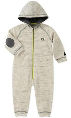 Calvin Klein Infant Boys Oatmeal Hooded Coverall Size 3/6M 6