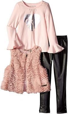 Calvin Klein Girls Fluffy Vest 3pc Pant Set Size 2T 3T 4T 4 5 6 6X](Fluffy Girls)