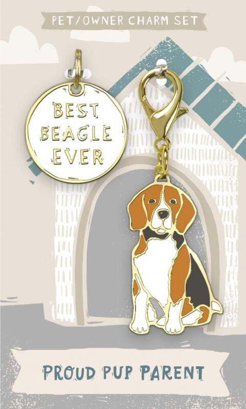Beagle Collar Tag and Charm Set