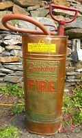 Antique Copper and Brass Fire Extinquisher