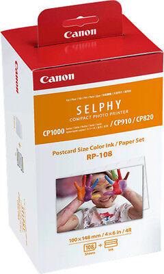 Wert Packung Papier und Farbe Original Canon RP-108 8568B001 für Selphy CP-1200