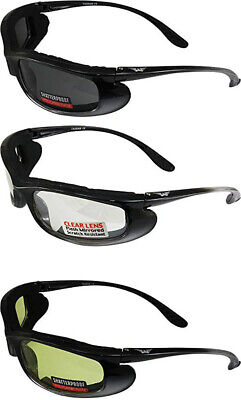 3 Pair Shadow Motorcycle Riding Glasses Day and Night Clear Smoke Yellow (Day And Night Motorcycle Glasses)