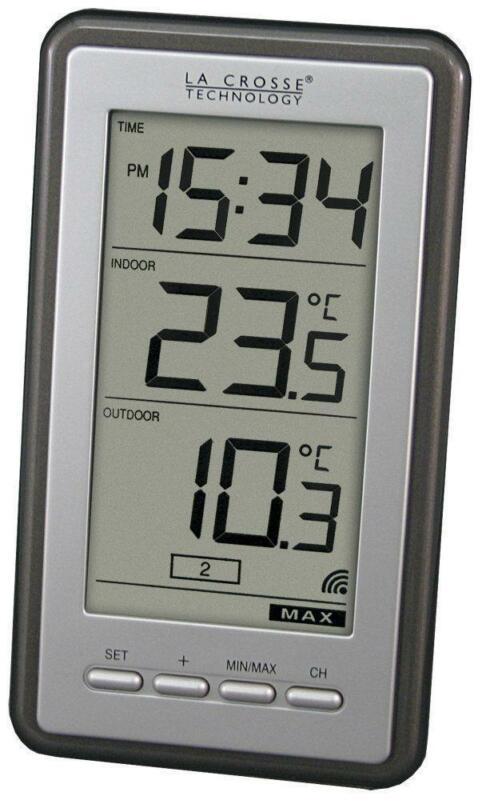 Wireless Digital Clock Thermometer Indoor Outdoor Ebay