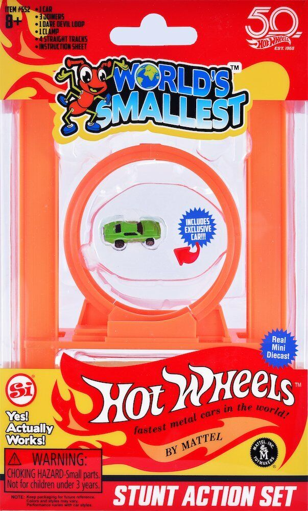 STUNT ACTION SET Worlds Smallest Hot Wheels Loop,Track, Join