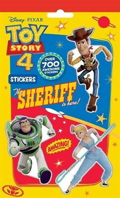 Toy Story 4 Pad Of 700 Stickers Childrens Party Bag Filler Woody Buzz TYSTR