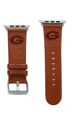 - Georgia Bulldogs Premium Leather Band Compatible With the Apple Watch