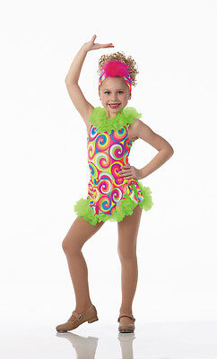 Island Girl Dance Costume Leotard Skirt and Headpiece Clearance Adult Large
