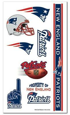 New England Patriots Temporary Tattoo Sheet [NEW] NFL Tattoos Face Sticker Decal](Patriots Tattoos)