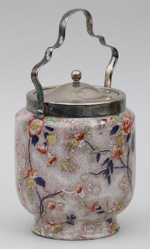Antique S Hancock & Son Coronaware Chintz Biscuit Barrel Jar Bucket Art Deco