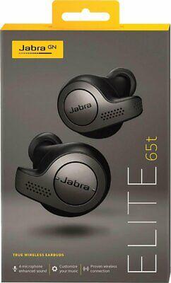 NEW Jabra Elite 65t Wireless Earbud Headphones - Titanium Black
