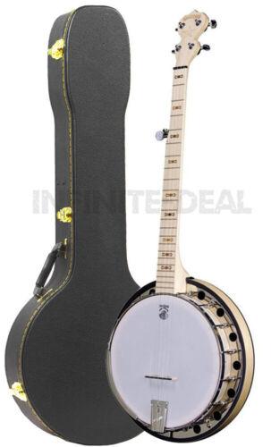 New USA Made Deering Goodtime 2 Blonde Maple 5-String Resonator Banjo w/ Case