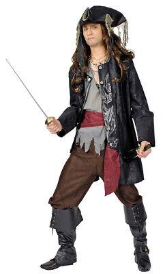Piraten Kostüm Käpt´n Black Beard Herren Seeräuber Anzug Karneval Theater %SALE%