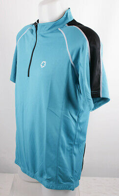 Gregster Hombre Camiseta de Bicicleta Culotte Manga Corta Azul/Negro M
