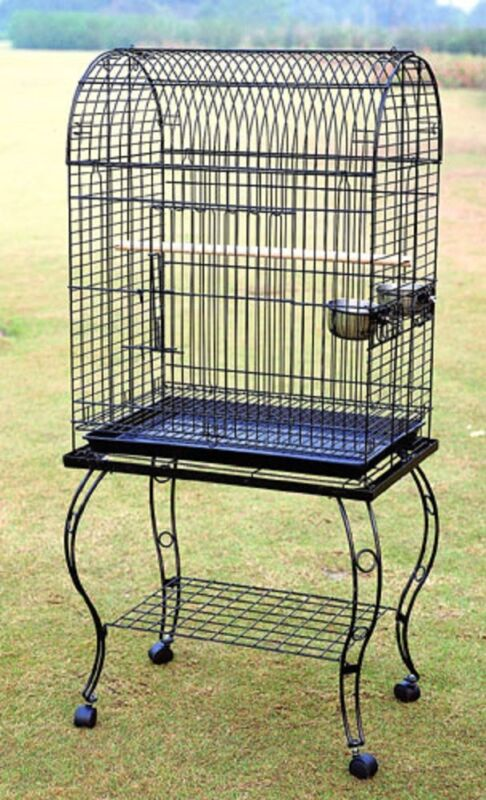 PARROT BIRD CAGE w STAND - 906 Black Vein