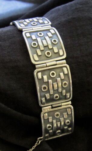 "Vintage Taxco Sterling Pedro Castillo Bracelet 3/4"" Wide 58 grams"