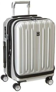 Used Delsey Luggage Helium Titanium International Carry-On EXP Spinner Trolley, Silver, One Size Condtion: Used, Silv...