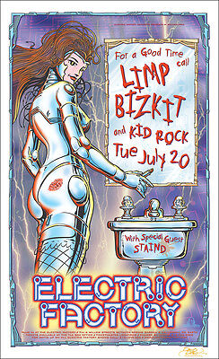 LIMP BIZKIT KID ROCK STAIND Original 1999 Philadelphia Concert Poster Signed