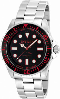 Invicta Pro Diver 20121 Men's Round Black and Ruby Analog Watch