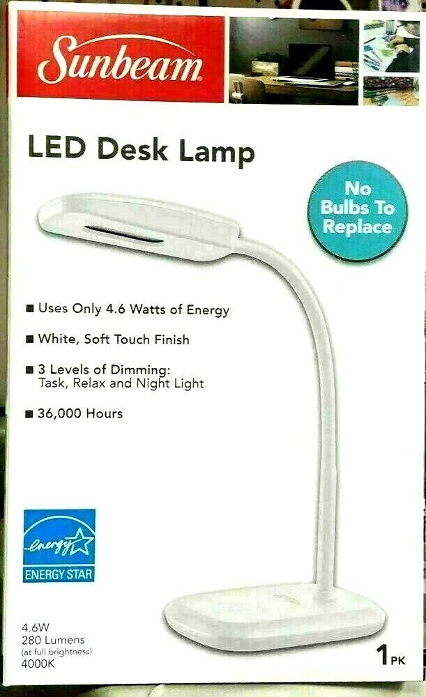 LED DESK LAMP DORM SUNBEAM OFFICE TOUCH LIGHT STUDIO GOOSENE