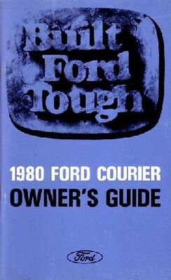 1980 Ford Courier Truck Owners Manual User Guide Reference Operator Book Fuses