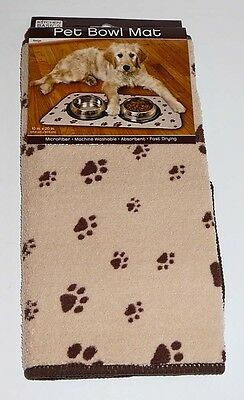 Microfiber Pet Bowl Mat Dog Cat Feeding Food Water Absorbent