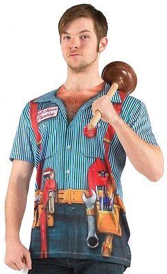 Adult Men's Plumber Halloween Costume Funny T-shirt MEDIUM](Halloween Plumber Costume)