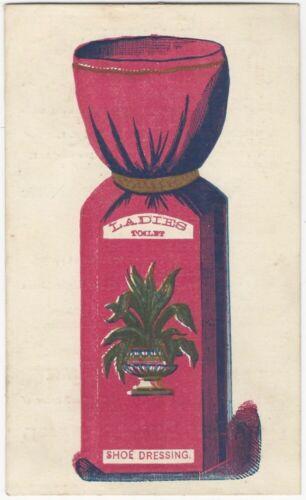 Victorian Ladies Toilet Shoe Dressing Philadelphia Advertising Trade Card