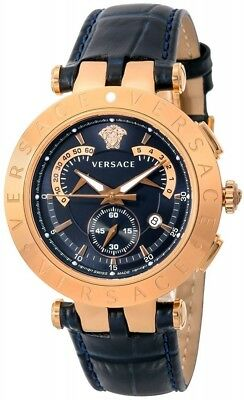 VERSACE Quartz Men's Watch V-RACECHRONO Navy Dial 23C80D282S282 Fast Shipping